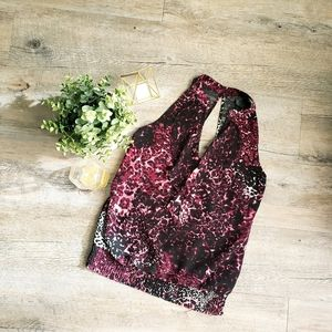 GUESS | Flowy Halter Blouse with Lace Back